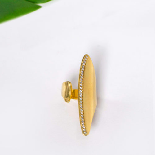 Gold Chevalier, sterling silver, silver 925, statement ring
