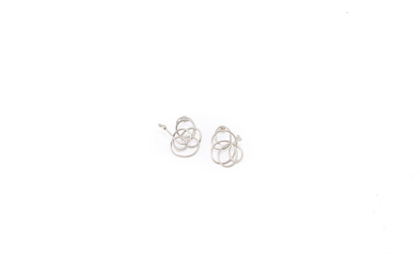 tangled earrings, sterling silver, abstract earrings, everyday earrings