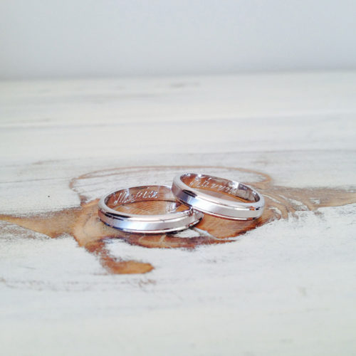 white gold, wedding bands, custom made, bespoke