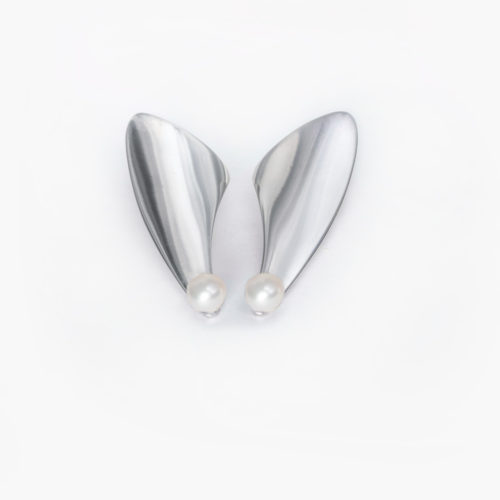 Sterling silver earrings, pearl earrings, silver 925