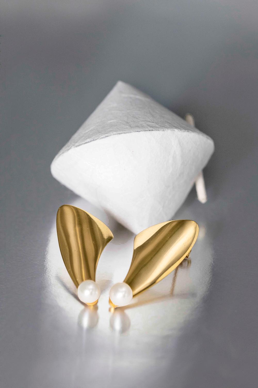 sterling silver 925, gold platted earrings, earring pearl, elegant earrling