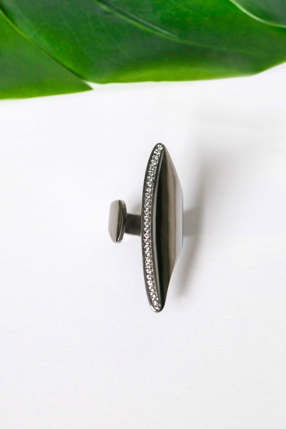 black sterling silver chevalier, sterling silver, silver 925, statement ring, black stones
